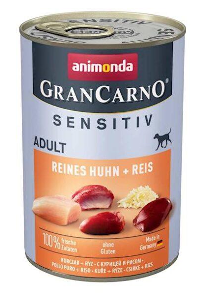 ANIMONDA GranCarno Sensitive Adult puszki czysty kurczak z ryżem 400 g