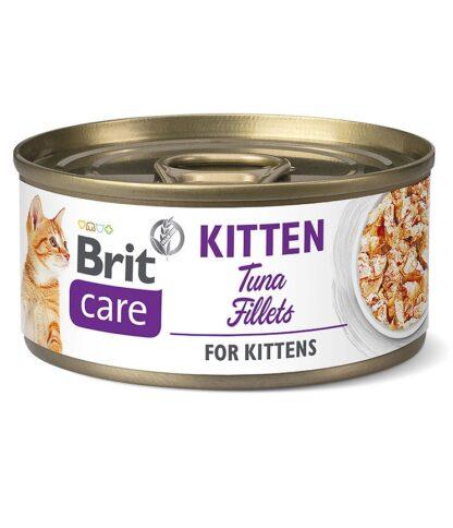 BRIT CARE CAT KITTEN TUNA FILLETS PUSZKA 70 G