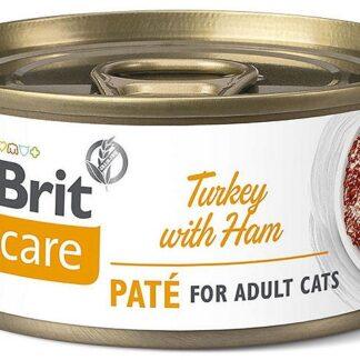 BRIT CARE CAT TURKEY WITH HAM PUSZKA 70 G