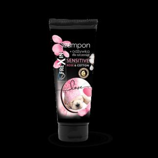 FREXIN Szampon + Odżywka 2w1 SENSITIVE dla szczeniąt -rose&cotton 220g [25450]