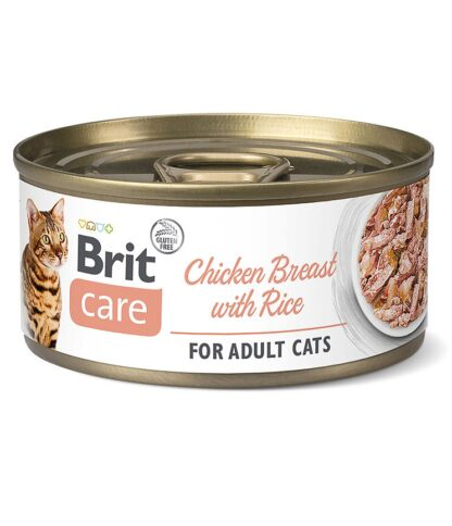 BRIT CARE  CAT CHICKEN BREAST  WITH RICE PUSZKA PUSZKA 70 G