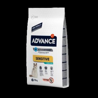 ADVANCE Sterilized Salmon Sensitive - sucha karma z łososiem dla wrażliwych kotów sterylizowanych 10kg [921866]