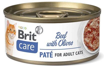 BRIT CARE CAT BEEF WITH OLIVES PUSZKA 70 G