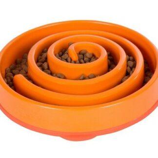 FUN FEEDER Miska plastikowa spowalniająca jedzenie LARGE pomarańczowa [51001]