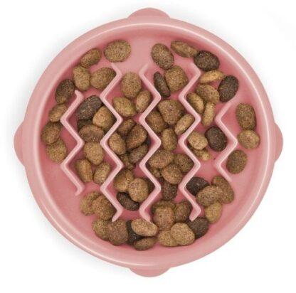 FUN FEEDER Miska plastikowa spowalniająca jedzenie XS różowa [69754]