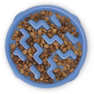 FUN FEEDER Miska plastikowa spowalniająca jedzenie MINI/MEDIUM niebieska [67830]