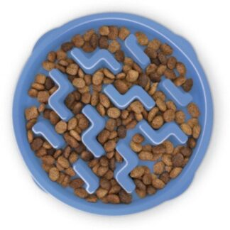 FUN FEEDER Miska plastikowa spowalniająca jedzenie LARGE niebieska [67831]